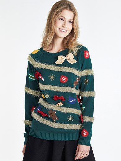 Grön - FUNNY CHRISTMAS SWEATER